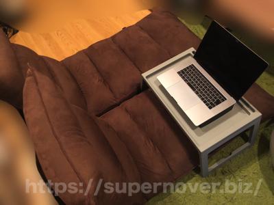 1億円座椅子(ビッグ・ラージサイズ)を直角にしてPC作業