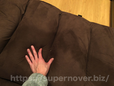 1億円座椅子(ビッグ・ラージサイズ)のゴミが溜まる場所