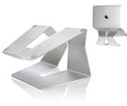 ノートパソコン スタンド ECLIPSE CREAT ノートPC パソコンデスク 冷却 MacBook - アルミニウム製 シルバー