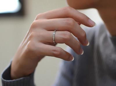 エタニティーリング ダイヤモンド 0.15ct ハードプラチナ950の装着イメージ写真