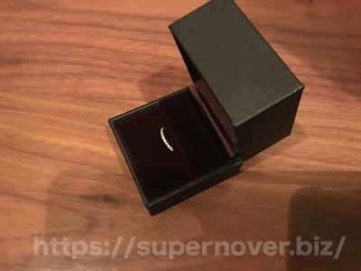 エタニティーリング ダイヤモンド 0.18ct ハードプラチナ950ジュエリーボックスの開封