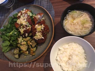 油淋ソースの中華豚カツ〜4種の白いスープ〜