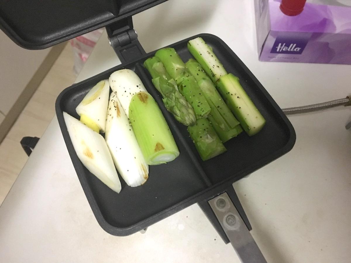 ホットサンド野菜炒め・レシピ