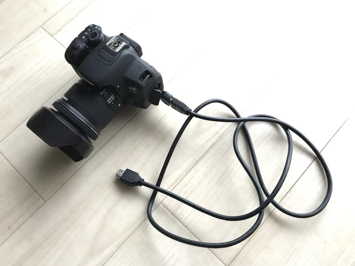 キャノンEOS Kiss X7iをディスプレイTVに繋げる互換ケーブルコネクターのオススメはコレ!